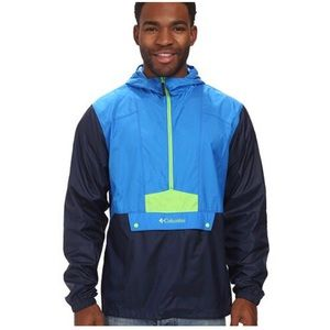 Columbia Blue/Green Flashback Pullover Windbreaker